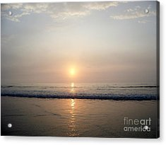 Sunrise Reflection Shines Upon The Atlantic Acrylic Print by Eunice Miller