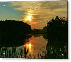 Acrylic Print featuring the photograph Sunrise Reflections by Elaine Franklin