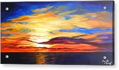 Acrylic Print featuring the painting Sunrise by Renate Voigt
