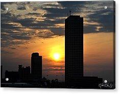Sunrise Silhouette Buffalo Ny V2 Acrylic Print