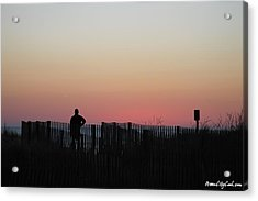 Acrylic Print featuring the photograph Sunrise Silhouette by Robert Banach