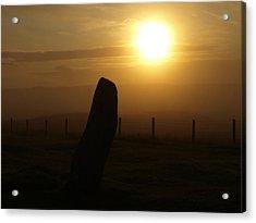 Sunrise Silhouette Scotland Acrylic Print by Michaela Perryman