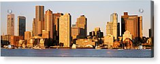 Sunrise, Skyline, Boston Acrylic Print by Panoramic Images