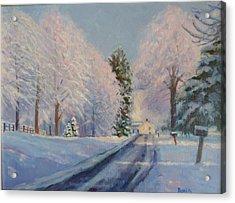 Sunrise Snow Acrylic Print by Bonita Waitl
