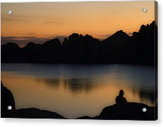 Sunrise Solitude Acrylic Print by Dave Dilli