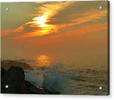 Acrylic Print featuring the photograph Sunrise Splash by Elaine Franklin