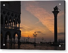 Acrylic Print featuring the photograph Sunrise St Mark's Square by Marion Galt