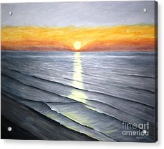 Acrylic Print featuring the painting Sunrise by Stacy C Bottoms