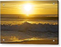 Sunrise Surf Acrylic Print by Greg Vizzi