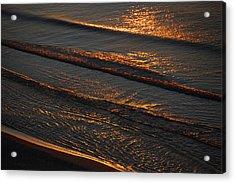 Sunrise Surf Acrylic Print by Sean Holmquist