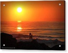 Sunrise Surfer Acrylic Print