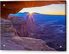 Sunrise Through Mesa Arch Acrylic Print
