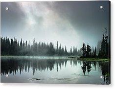 Sunrise Through The Mist Acrylic Print by Brian Xavier