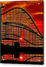 Sunrise Thru The Coaster Acrylic Print by Nick Zelinsky