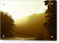 Acrylic Print featuring the photograph Sunrise Thru The Fog by Phil Abrams