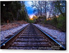 Sunrise Tracks Acrylic Print