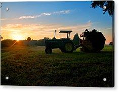 Sunrise Tractor Acrylic Print
