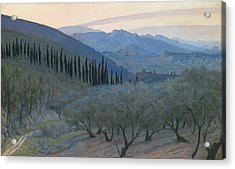 Sunrise Umbria 1914 Acrylic Print by Sir William Blake Richmond