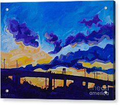Sunrise Under The Overpass Acrylic Print