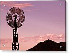 Sunrise Windmill Acrylic Print