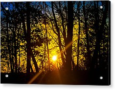 Sunrise With Blue - Horizontal Acrylic Print