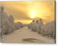 Sunrise With Joy Acrylic Print by Rose-Maries Pictures