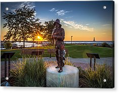 Sunrise With The Fisherman Acrylic Print