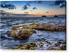 Sunrise With The Mokulua Also Know As Mokes Island Acrylic Print