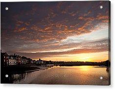 Sunrise Wivenhoe Acrylic Print by David Davies