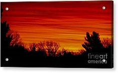 Sunrise Y-town Acrylic Print by Angela J Wright