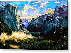 Sunrise Yosemite Valley Nationalpark Acrylic Print