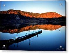 Sunrising - Skaha Lake 3-18-2014 Acrylic Print