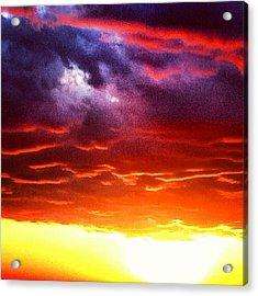Suns Airbrush Acrylic Print by Jake Harral