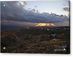 Suns Rays After Sunrise From Jerome Arizona Acrylic Print