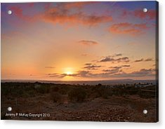 Acrylic Print featuring the photograph Sunset @ Rim Trail by Jeremy McKay