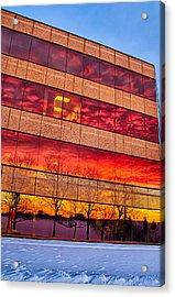 Sunset 1-3-14 Northern Illinois 004 Acrylic Print by Michael  Bennett