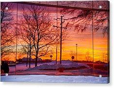 Sunset 1-3-14 Northern Illinois 005 Acrylic Print by Michael  Bennett
