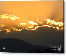 Acrylic Print featuring the photograph Sunset 3 by Ze  Di