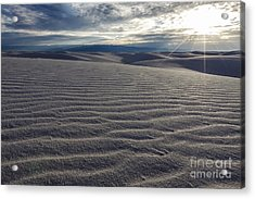 Sunset 3 - White Sands Acrylic Print by Scotts Scapes