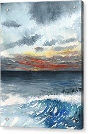Sunset 32 Behind La Jolla Cove Acrylic Print
