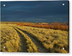 Sunset Above Flaming Gorge, Green Acrylic Print by Timothy Herpel