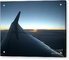 Sunset Above The Clouds Acrylic Print