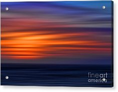 Sunset Abstract Acrylic Print by Clare VanderVeen