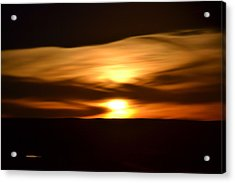 Acrylic Print featuring the photograph Sunset Abstract I by Nadalyn Larsen