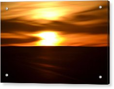 Acrylic Print featuring the photograph Sunset Abstract II by Nadalyn Larsen