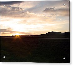 Acrylic Print featuring the photograph Sunset Across I 90 by Cathy Anderson