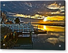 Sunset Across The Inlet Acrylic Print