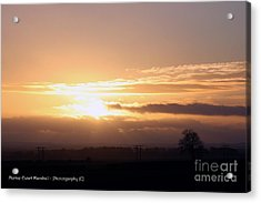 Sunset Across The Wolds Acrylic Print by Merice Ewart