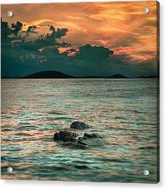 Sunset Acrylic Print by Akos Kozari