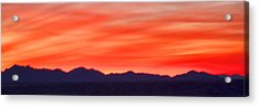 Acrylic Print featuring the photograph Sunset Algodones Dunes by Hugh Smith